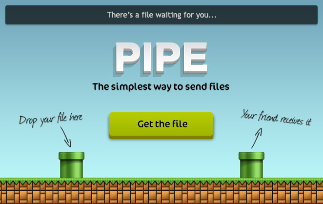 File sharing facebook app pipe landing page