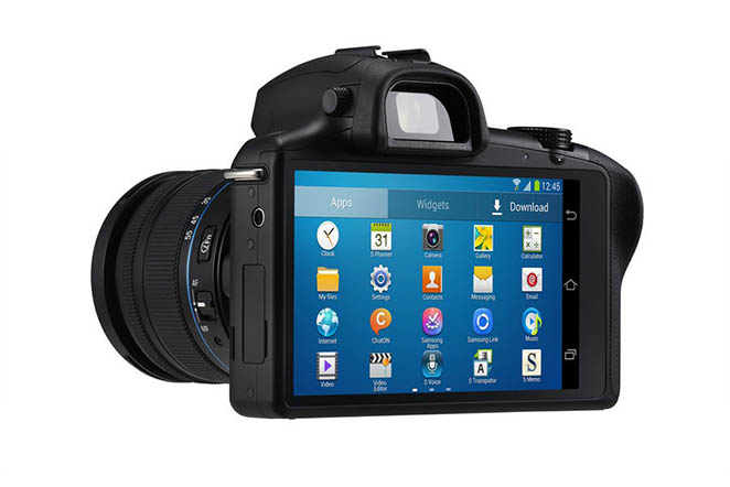 Samsung Galaxy NX back view