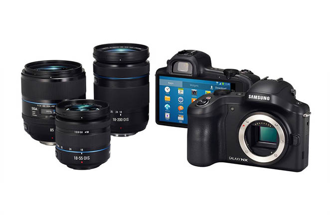 Samsung Galaxy NX with lenses