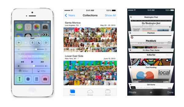 iOS 7 screens