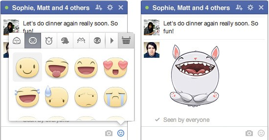 Facebook stickers web