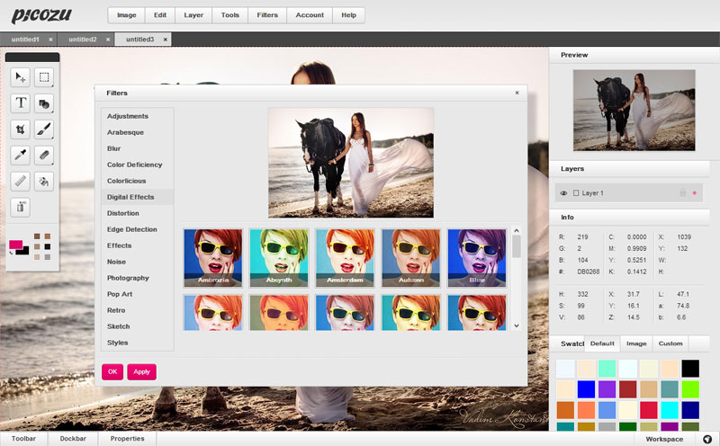 Picozu  web image editor