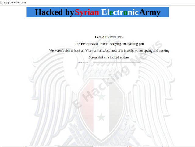 Syrian Electronic army defaced viber
