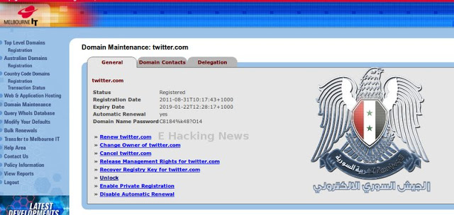 Melbourne-IT hacked by syrian electronic army