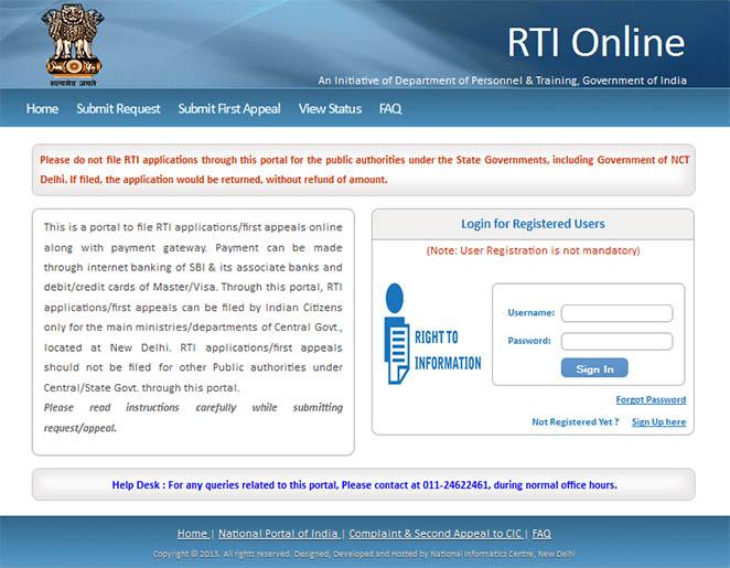 RTI website