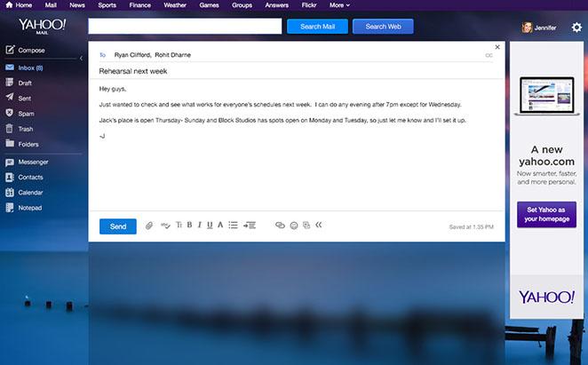 Yahoo Mail Desktop Compose