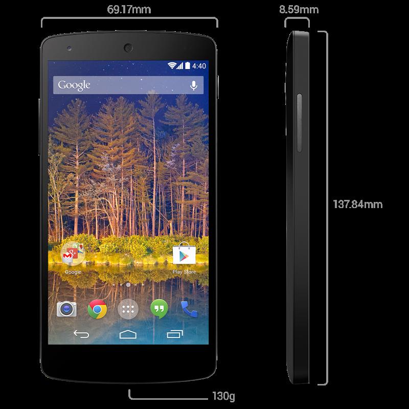 Nexus5 dimensions