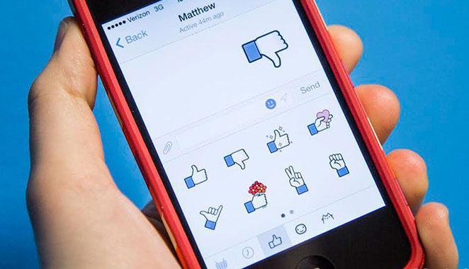 Facebook Messenger Like Sticker