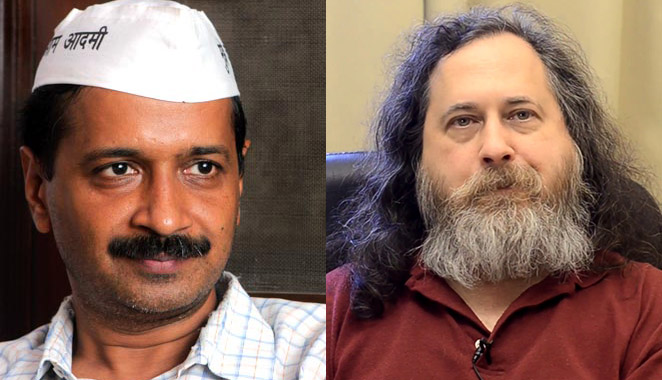 Kejriwal discussions with Richard Stallman