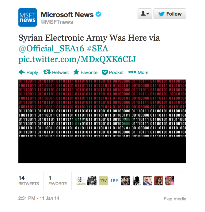 Syrian Electronic Army - Microsoft hack