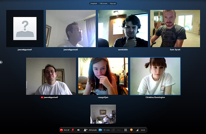 Skype group video calling