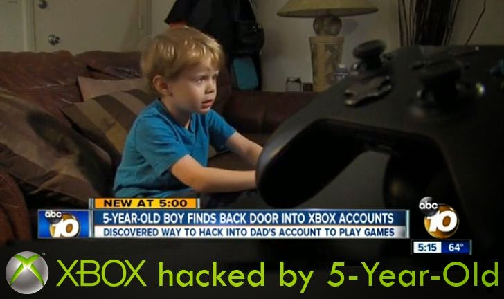XBOX password hacked by 5 year old Kristoffer Von Hassel