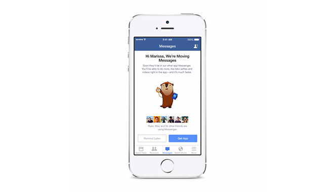 Facebook forces to download messenger app