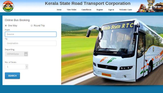 KSRTC New Online Booking Website