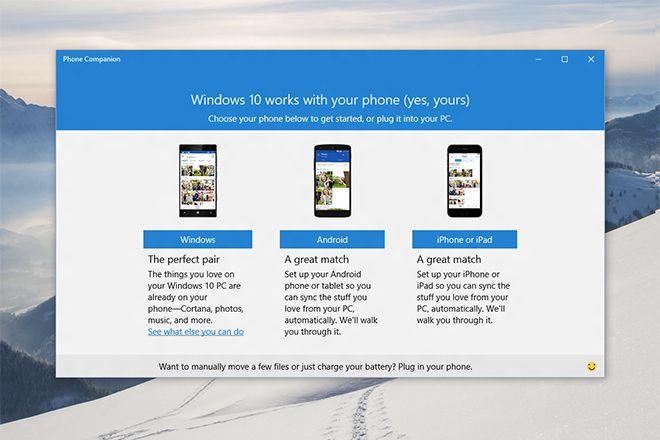Windows 10 Phone Companion App